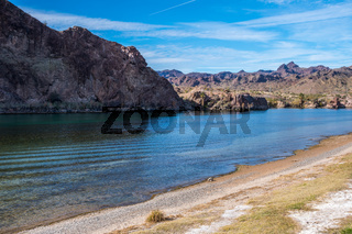 An overlooking view of nature in Buckskin Mountain SP, Arizona
