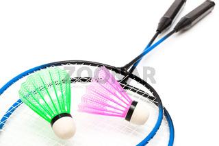 a racket and shuttlecock