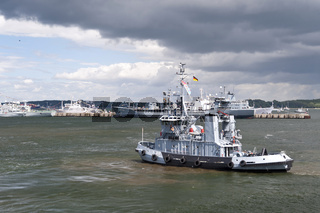 Im Hafen von Kiel während der Kieler Woche 2014