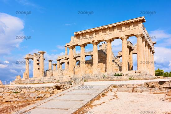 Ancient temple of Aphaea, landmark of Aegina