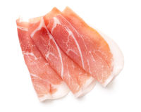 Prosciutto Slices Isolated On White Background