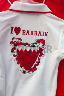 Red and white shirts for Bharain national day