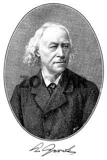Karl Friedrich von Gerok, 1815 - 1890, a German theologian and poet,