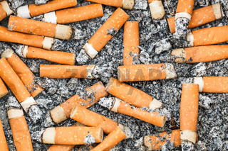 background from cigarette butts and ash