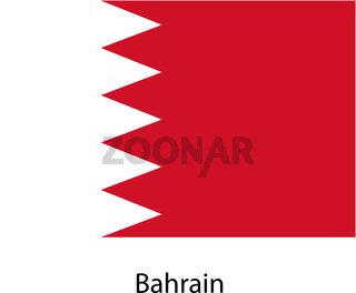 Flag  of the country  bahrain. Vector illustration.