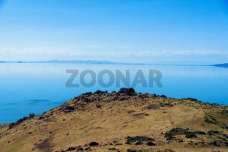 Beautiful landscape on Antelope Island State Park