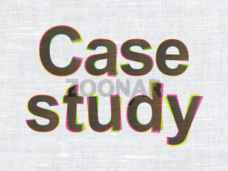 Education concept: Case Study on fabric texture background