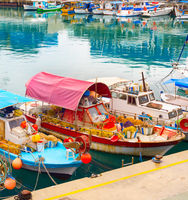 Cyprus fishing boats dock harbor