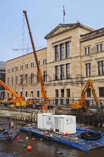 Baustelle Neues Museum, Museumsinsel, Berlin, Deutschland