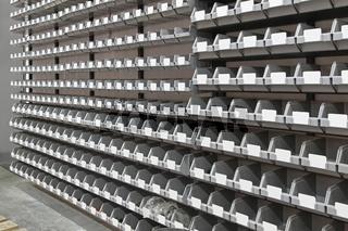 Tray bins storage