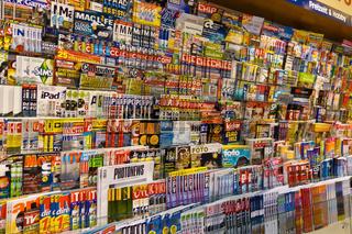 Kiosk, viele Zeitschriften