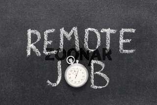 remote job watch