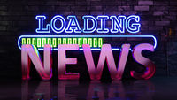 Neon lights loading news