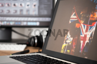 Workstation of a professional photographer