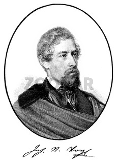 Johann Nepomuk Vogl, 1802 - 1866, an Austrian writer, poet and journalist,