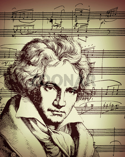 Handwritten Piano Sonata No. 12 in A♭ major, Op. 26, Ludwig van Beethoven, 1770 -1827, German composer