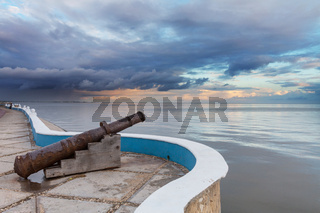 Old cannon in Mexico