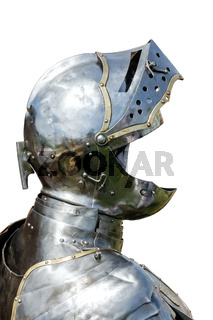 Armour of the medieval knight isolated on white  background