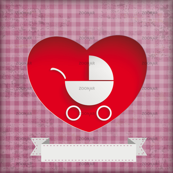 Vintage Baby Buggy Hole Hearts