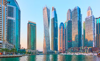 Dubai Marina at twilight
