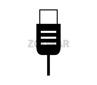 usb socket icon illustrated in vector on white background