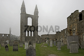 St. Andrews Cathedral im Nebel