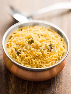 indian golden biryani rice