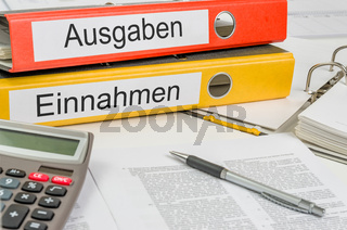 Folders with the german label Ausgaben und Einnahmen - Income and Expenditure