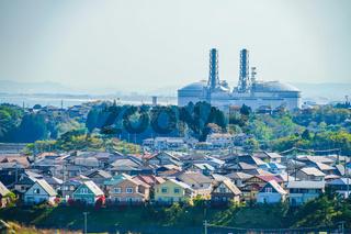 Sendai Port visible from Miyagi Prefecture shichigahama