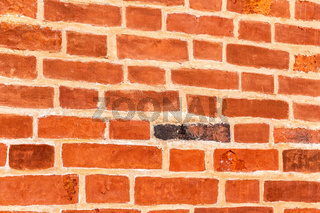 Red brick wall as creative background texture