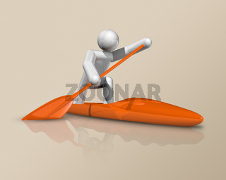 Canoe Sprint 3D icon, Olympic sports