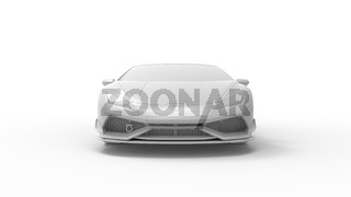 3d rendering of a super sports car isolated in a studio background