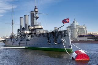 St. Petersburg Russia. Cruiser Aurora