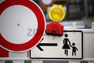 Fußgänger-Umleitung