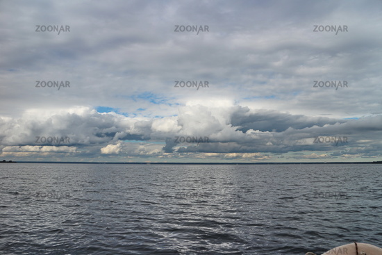 seascape first-person view from a motor boat
