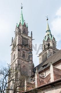 Towers of St. Lorenz Church in Nuremberg