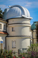 Observatory, domes of the observatory which are opened at night to observe the stars.