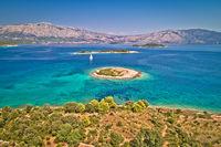 Korcula. Lumbarda on island of Korcula turquoise sailing archipelago
