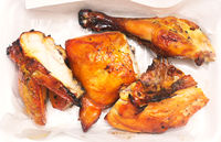 Grilled chicken in plate