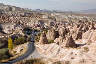 Fairy chimneys landscape in Cappadocia