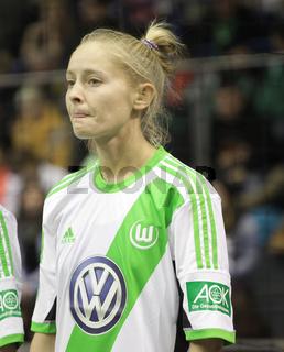 Olga Petrova (VfL Wolfsburg) Frauen-DFB-Hallenpokal2014 12.1.14 GETEC-Magdeburg