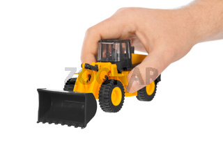 Hand with toy loader