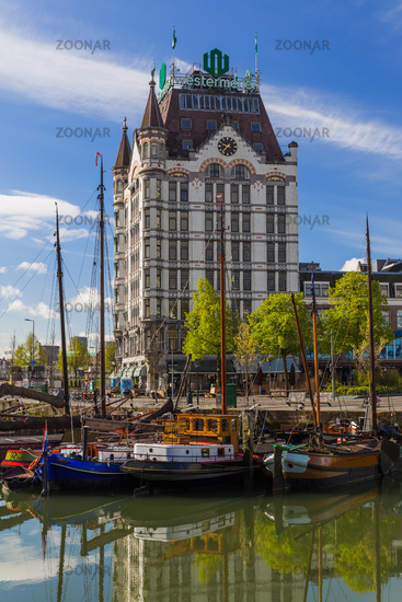 Rotterdam, Netherlands - April 27, 2017: Famous old White House (Witte Huis) in Rotterdam