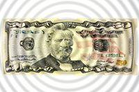 Dollar bills as a background