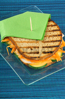Roasted turkey and vegetables sandwich