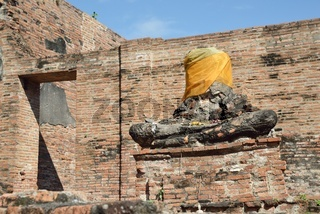 Damaged Statue of the Buddhaa