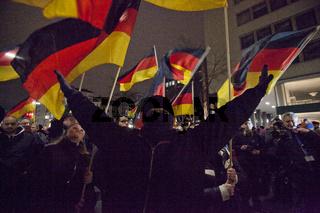 Duegida-Demo in Duesseldorf
