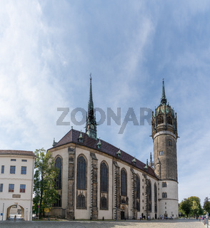 view of Martin Luther's church in Wittenberg