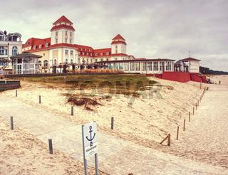 Kurhaus Spa building with famous promenade, sea bridge