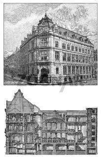 Bank building, Bayerische Vereinsbank, Munich, Bavaria, Germany